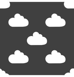 Cloud download application web iconflat design vector image