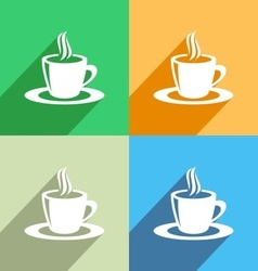 Coffee cup icon menu icon vector