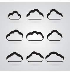collection grey clouds vector image