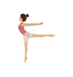 Colorful dancer pose fourth arabesque vector