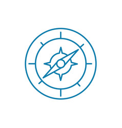 compass linear icon concept compass line vector image