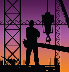Construction man on work vector