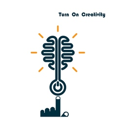Creativity Brain Opening Concept vector