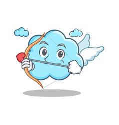cupid cute cloud character cartoon vector image