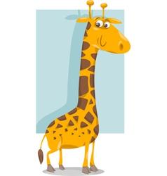 Cute giraffe cartoon vector