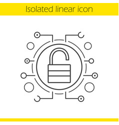 cyber security linear icon vector image