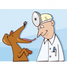 Dog and vet vector