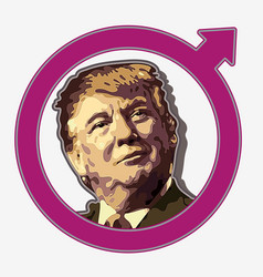 Donald trump cream crimson vector