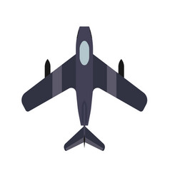 Fighter plane transport top view icon defense vector