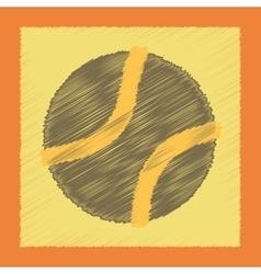 Flat shading style icon dog toy ball vector