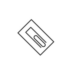 Flat trowel concept icon in thin line style vector