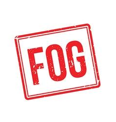 Fog rubber stamp vector