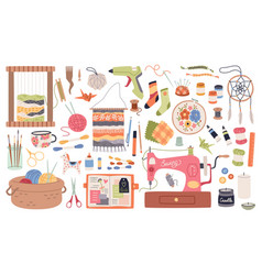 Handmade crafts creative accessories consumables vector