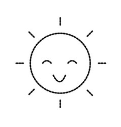 happy cartoon sun weather light day vector image