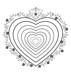 Heart love frame icon vector