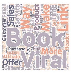 how can you generate sales with your viral ebook vector image