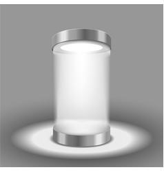 Illuminated round podium vector