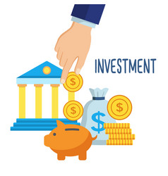 investment money saving vector image