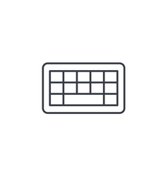 keyboard buttons thin line icon linear vector image