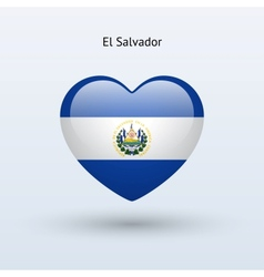 Love El Salvador symbol Heart flag icon vector