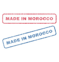 made in morocco textile stamps vector image
