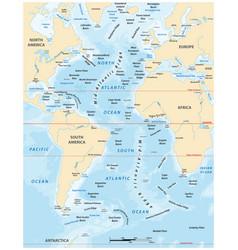 map atlantic ocean vector image