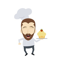 master chef cartoon vector image