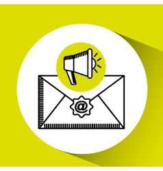 megaphone email concept marketing design vector image