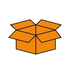 Open box symbol vector