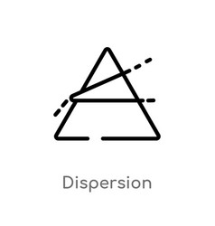 Outline dispersion icon isolated black simple vector