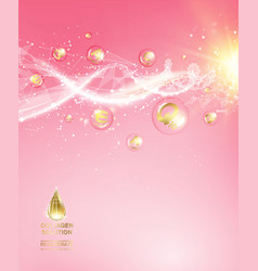 Pink background with DNA vector