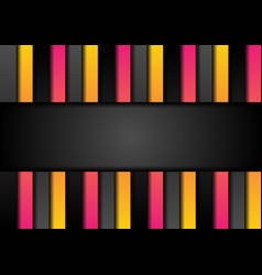 pink orange and black stripes abstract tech vector image