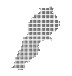 pixel map of lebanon dotted map of lebanon vector image