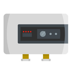power heater icon flat style vector image