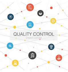 Quality control trendy web template with simple vector