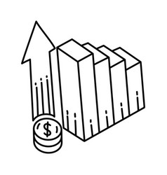 rate icon doodle hand drawn or outline icon style vector image