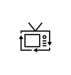 recycle electronic tv television electrical goods vector image