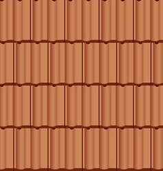 Roof tile seamless background vector