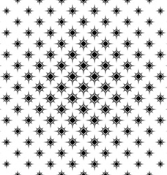 Seamless monochrome star pattern vector image