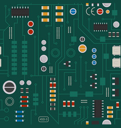 Seamless pattern of electronic circuit with diodes vector