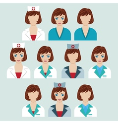 Set of medical characters vector image