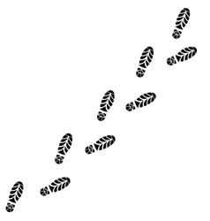 Shoes Trail Footprints Line vector image