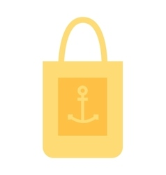 Summer bag icon isolated on white background vector image