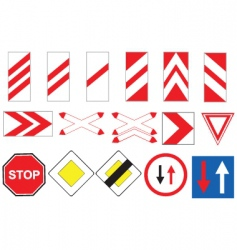 traffic signs vector vector image