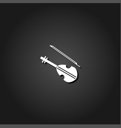 violin icon flat vector image