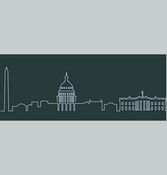 washington single line skyline vector image