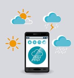 Weather mobile app vector