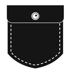 Black jeans pocket icon simple style vector