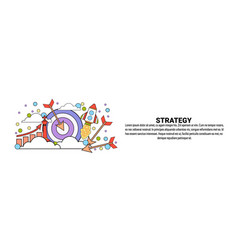 strategy business planning concept horizontal web vector image