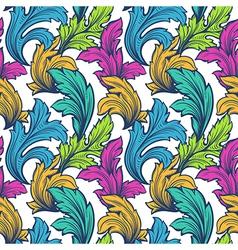 vintage leaf design element vector image